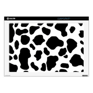 "black and white cow print skins for 17"" laptops"