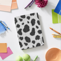 Black and white cow spots pattern iPad air cover