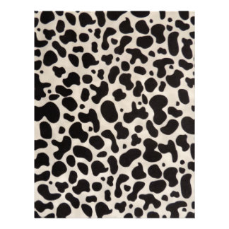 Black and White Cow Spots Scrapbook Stationery Letterhead