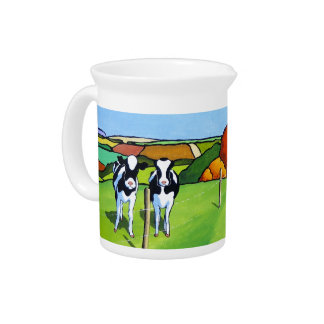Black and White Cows by Country Lane Drink Pitchers