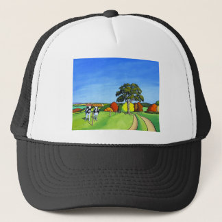 Black and White Cows by Country Lane Trucker Hat