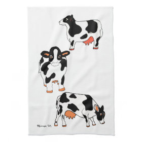 Black and White Cows Kitchen Towel