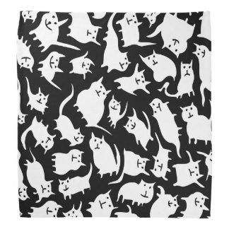 Black and White Crazy Cats Bandana