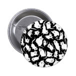Black and White Crazy Cats Button Button