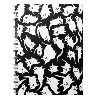 Black and White Crazy Cats Notebook