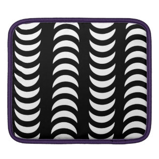 Black And White Crescent Moons iPad Sleeves