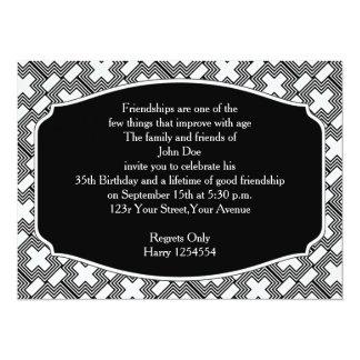Black and White Cross  Art Deco Geometric Custom Invitations