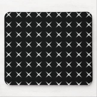 Black And White Cross Mouse Pad