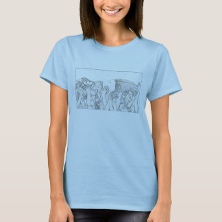 Black and White Crowd Surfer T-Shirt