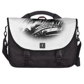 Black and White Cruise Ship Drawing Vignette Bags For Laptop