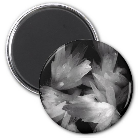 Black and White Crystal Magnet