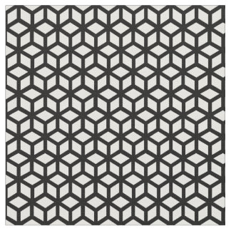 Black And White Cube Pattern Fabric