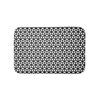 Black And White Cube Pattern Bath Mats