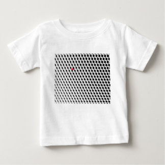 Black and white cubes with one red cube baby T-Shirt