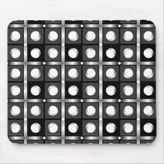 Black and White Cubic Pattern Mouse Pad