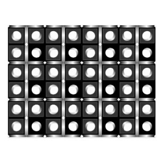 Black and White Cubic Pattern Postcard