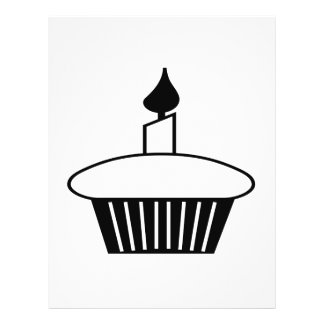"""Black And White Cupcake 8.5"""" X 11"""" Flyer"""