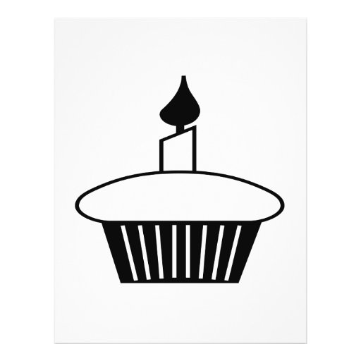 Black And White Cupcake Personalized Flyer