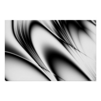 black and white curves poster