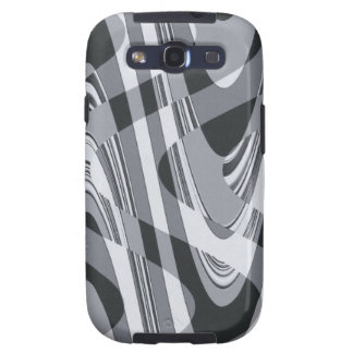 Black and White Curves Samsung Galaxy S3 Cover