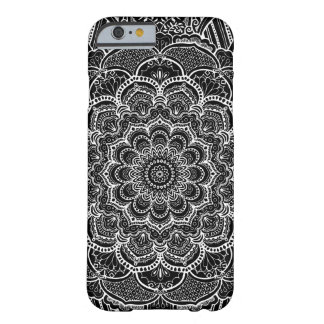 Black and White Custom Color Mandala Barely There iPhone 6 Case