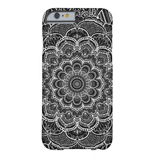 Black and White Custom Color Mandala Phone Case
