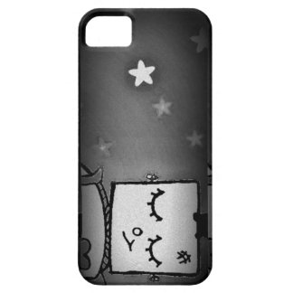 Black and White Cute Robot iPhone Case