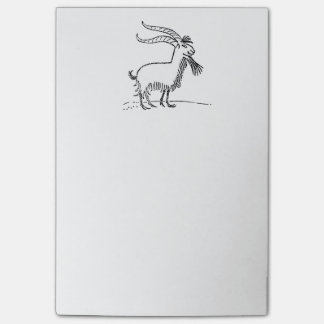 Black and White Cute Smiling Goat Cartoon Post-it® Notes