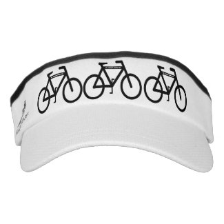 Black and White Cycling Abstract Headsweats Visors