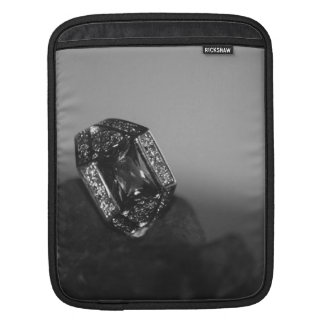 Black and White CZ Ring iPad Sleeve
