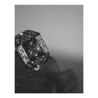 Black and White CZ Ring Letterhead