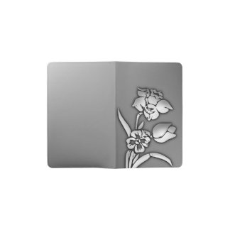 Black and White Daffodil Pocket Moleskine Notebook