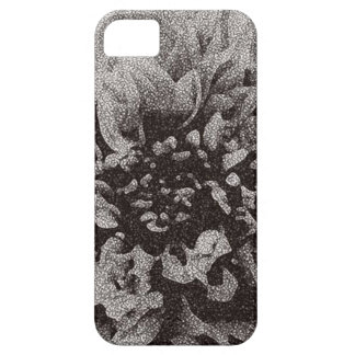 Black and White Dahlia iPhone Case