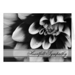 Black and White Dahlia Sympathy Greeting Card