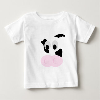 Black and White Dairy Cow or Bovine's face Baby T-Shirt