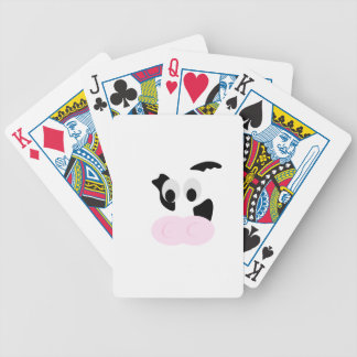 Black and White Dairy Cow or Bovine's face Bicycle Playing Cards