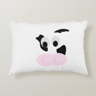 Black and White Dairy Cow or Bovine's face Decorative Pillow