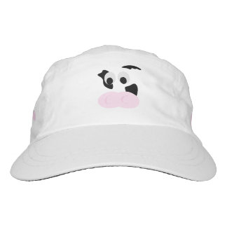 Black and White Dairy Cow or Bovine's face Headsweats Hat