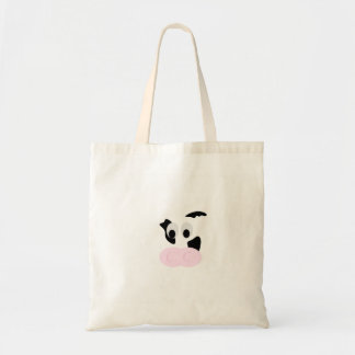 Black and White Dairy Cow or Bovine's face Tote Bag