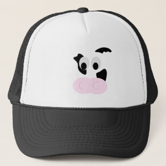 Black and White Dairy Cow or Bovine's face Trucker Hat