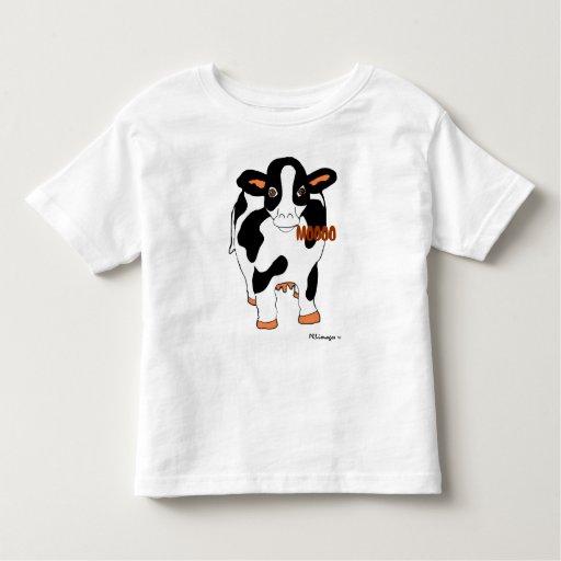 Black and White Dairy MOOOO Cow Shirt