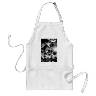 black and white daisies adult apron