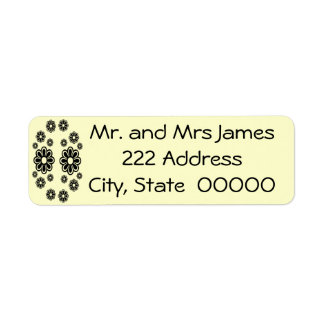 Black and White Daisies Ret. Address Label