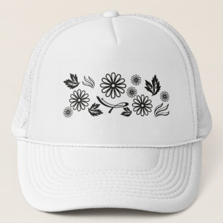 Black and White Daisy Hat