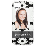 Black and white daisy pattern iPhone 5 covers
