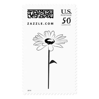 Black And White Daisy Postage
