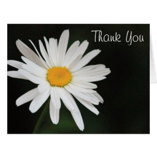 Black And White Daisy Thank You Card