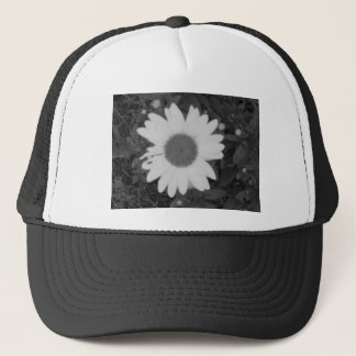 Black and White Daisy Trucker Hat