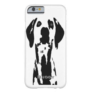 Black and White Dalmatian Dog Popular Template Barely There iPhone 6 Case