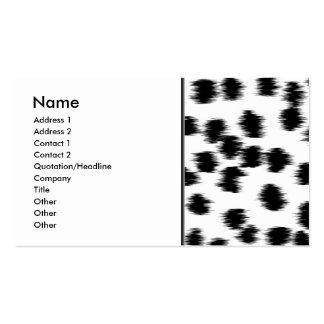 Black and White Dalmatian Print Pattern. Business Card